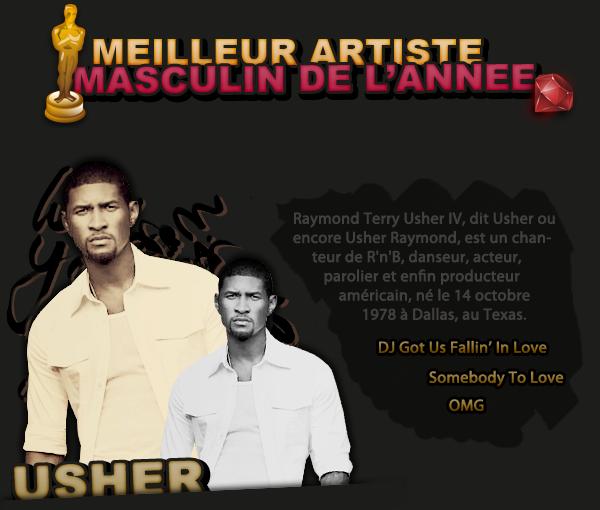 MEILLEUR ARTISTE MASCULIN DE L'ANNEE
