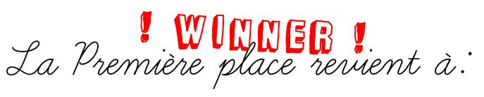 Concours n°3 :Résultat #3 éme Concours Mode du blog :)
