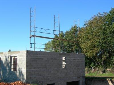 16.10.2010 : mise en place de échafaudage