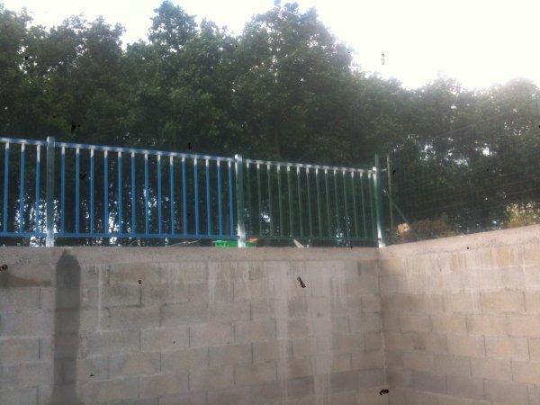 barrière des murs  de la descente de sous-sols