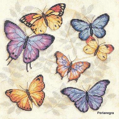 Papillons - Grilles de Point de Croix Gratuites!