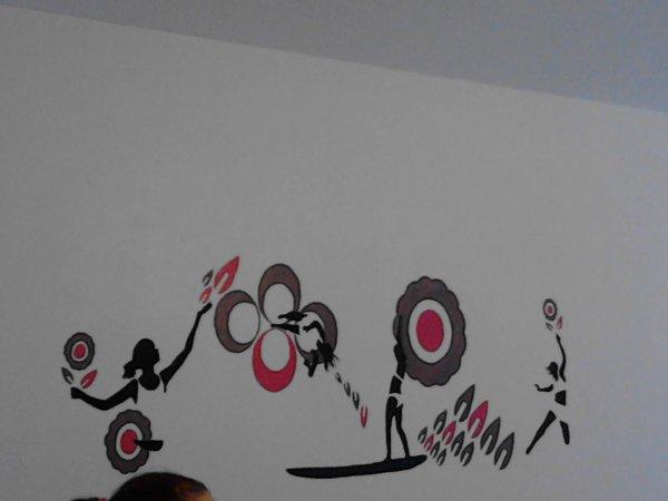 dessin sur mur pour mon travail