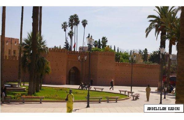 jardin à oujda. Royaume du maroc