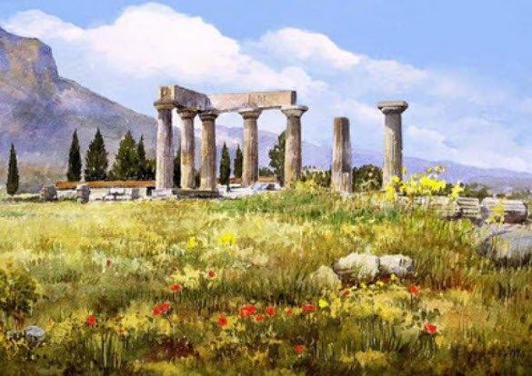 Peintures Aquarelle incroyables par Pantelis Zografos D d'Athènes, Grèce