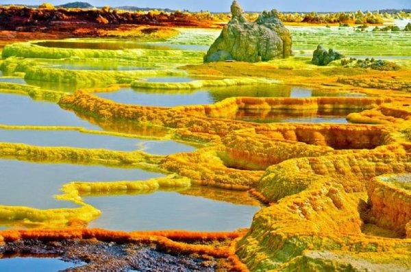 Dallol, un site volcanique d'une incroyable beauté qu'on croirait d'une autre planète