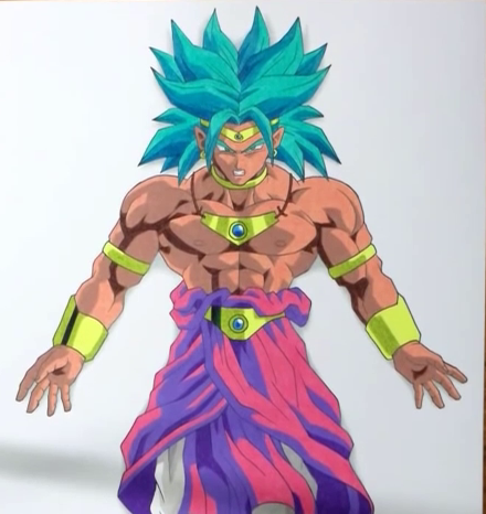 Broly super guerrier DBZ