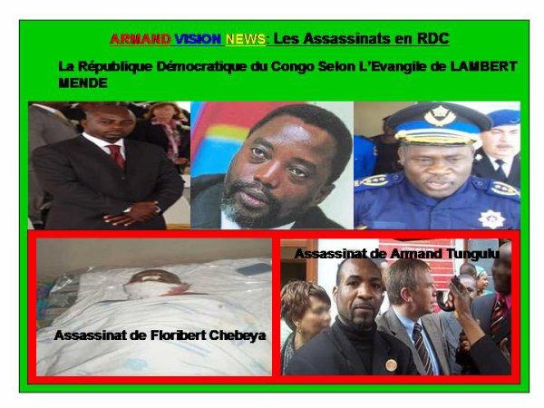 ARMAND VISION NEWS :  L' ÉVANGILE SELON SELON LAMBERT MENDE, Ministre de l'information de Joseph Kabange Kanambe