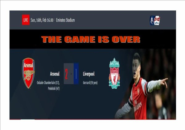 ARSENAL: The Game Is Over