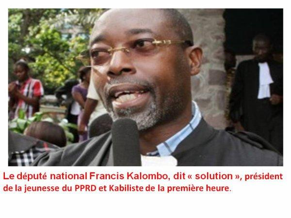 Francis Kalombo revient-il à la raison ?