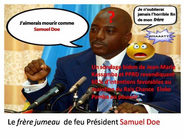 Joseph Kabange Doe: J'aimerais mourir comme mon Fragin Samuel Doe
