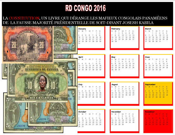 RD CONGO 2016: La constitution, un livre qui dérange les Mafieux Congolais Panaméens de la fausse majorité présidentielle de soit-disant Joseph Kabila