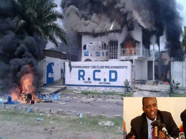 RD Congo: Siège du RCD  du Tutsi Congolais Azarias Ruberwa en feu