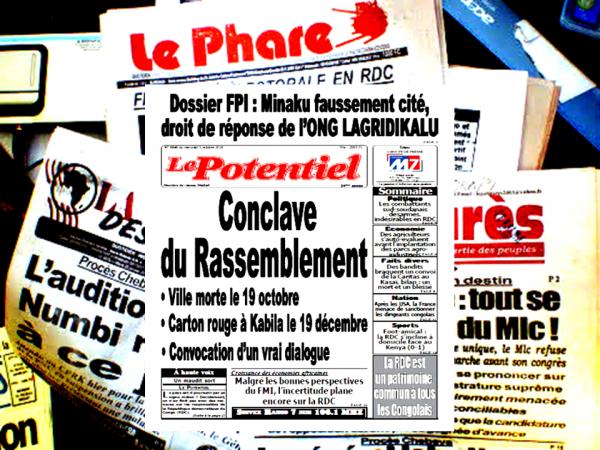 REVUE DE PRESSE- RDC DU 05 OCTOBRE 2016