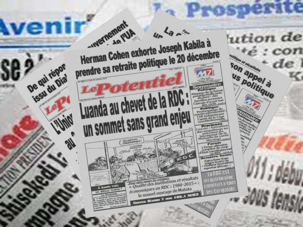 Revue de presse RDC du lundi 24 Octobre 2016: Luanda au chevet de la RDC: un sommet sans grand enjeu