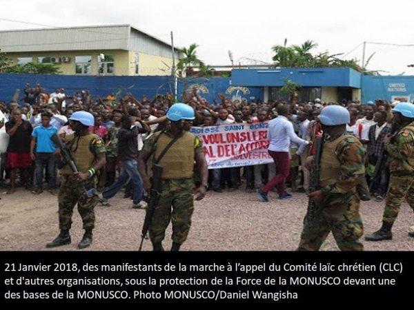 RDC : des manifestants trouvent refuge à la MONUSCO