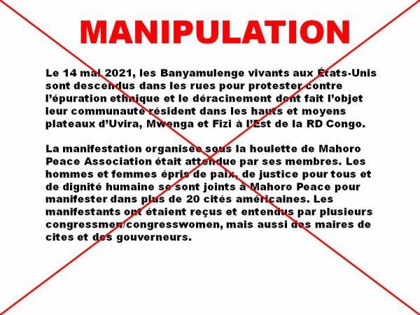 RDC: LES MAN¼UVRES DE NOS ENNEMIS