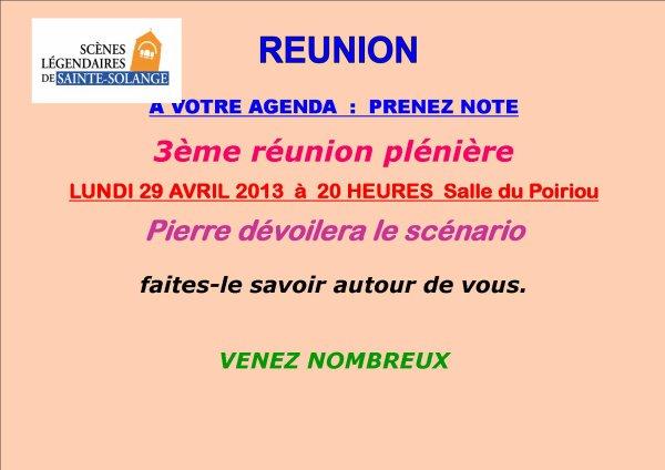 ARTICLE 542 - REUNION PLENIERE