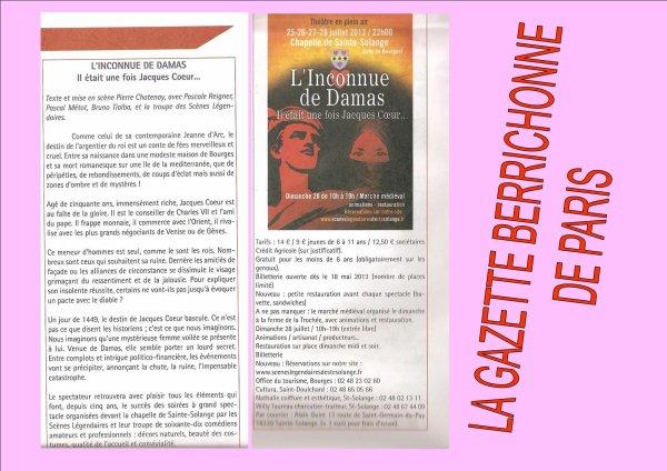 ARTICLE 617 - ARTICLES DE PRESSE