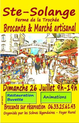 ARTICLE 775 - AFFICHE MARCHE-BROCANTE