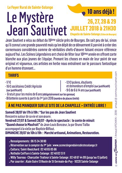 ARTICLE 1090 - AFFICHE SPECTACLE 2018