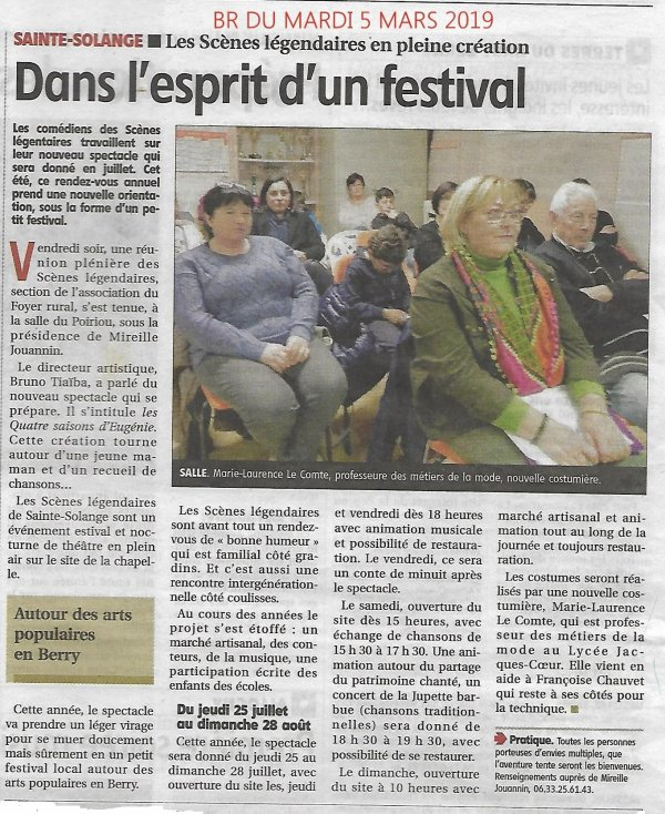 ARTICLE 1094- REUNION PLENIERE 1er MARS 2019 - ARTICLE BERRY REPUBLICAIN