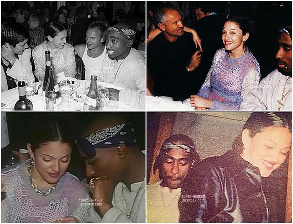 """__ _▪ Madonna : 20 ans après, elle confirme enfin son histoire avec Tupac ! Confortablement installée sur le canapé d'Howard Stern, pour son interview dans l'émission The Howard Stern Show diffusée sur SiriusXM, Madonna s'est laissée aller à de nouvelles confidences. Actuellement en pleine promotion de son nouvel album Rebel Heart, la chanteuse américaine de 56 ans n'en finit plus d'évoquer sa vie privée. La Reine de la Pop a enfin confirmé une rumeur datant d'il y a 20 ans, qui la disait en couple avec Tupac, le rappeur décédé en 1996. La confidence est intervenue lorsqu'Howard Stern a évoqué l'animateur David Letterman et une interview remontant à 1994 durant laquelle Madonna et David Letterman s'étaient beaucoup cherchés, la chanteuse taclant sans cesse l'animateur et prononçant quatorze fois des mots vulgaires. """"J'étais fâchée contre lui quand j'ai dit toutes ces vulgarités. J'étais d'une humeur très bizarre ce jour là. Je sortais avec Tupac Shakur et il m'a rendue agacée par la vie. Quand je suis allée dans l'émission, je me sentais très gangsta"""" a confié Madonna à Howard Stern.    __"""