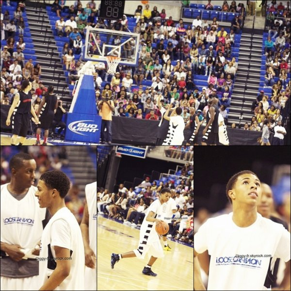 Diggy a jouer au basketball au Pooch Hall Basketball game