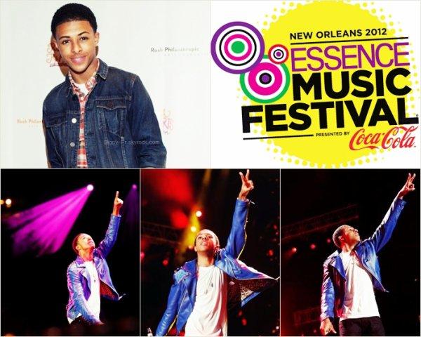 Diggy Simmons au festivals de musique d'Essence 2012 en Nouvelle Orléans : Diggy discute dans l'interview de l'importance de ce Festival.