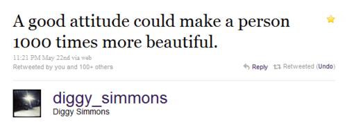 """"""" Une bonne attitude peut rendre une personne 1000 fois plus belle. """""""