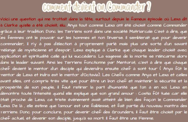 Comment deviens t'on le chef des Grounders ?