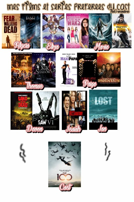 Mes films et séries préférées dans lequel nos acteurs et actrices jouent ou apparaissent !