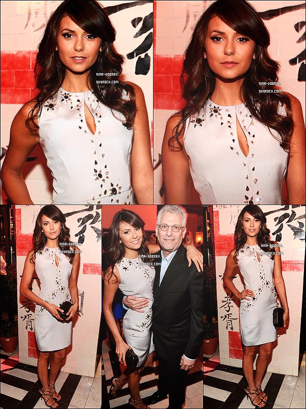 . 16/05/2013 : - Nina Dobrev était présente à l'after-party des « CW Networks Upfronts » toujours à New-York. .