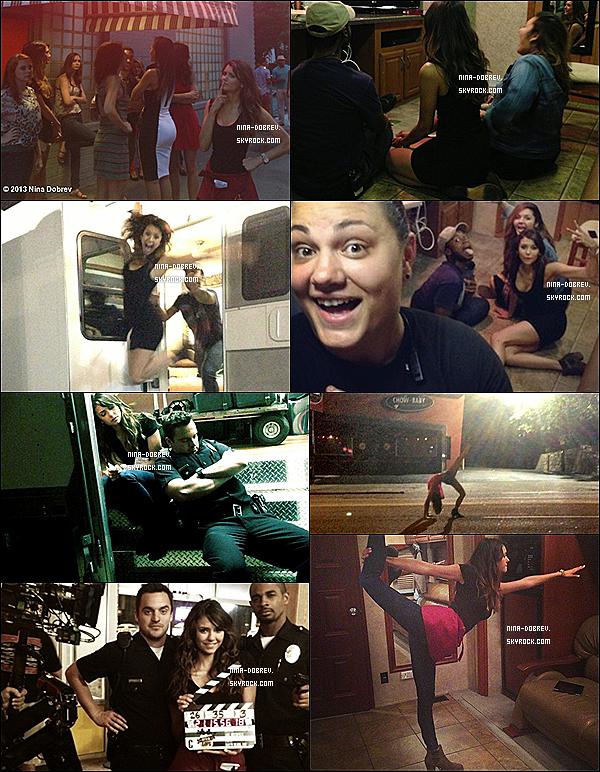 07/06/2013 : Nina a été vue sur le tournage de « Let's Be Cops » avec Jake Johson et Damon Wayans Jr.