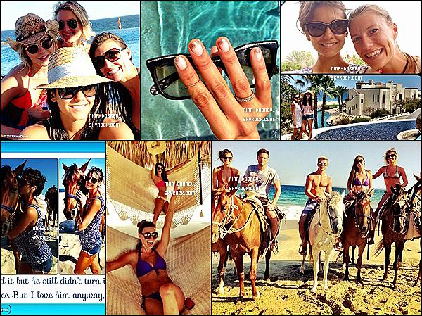 Photos personnelles de N. postées sur les réseaux sociaux, lors de ses vacances à Cabo San Lucas.