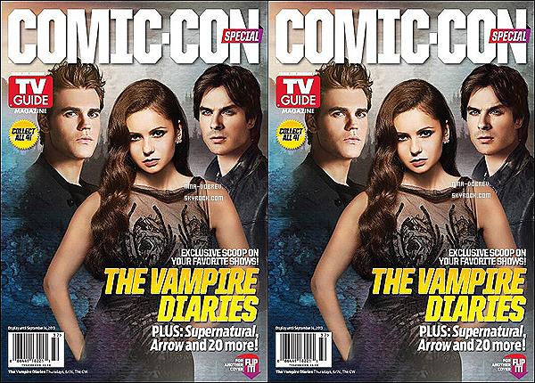 A l'occasion du Comic Con  Nina, Ian et Paul font la couverture du magazine  « TV Guide ».