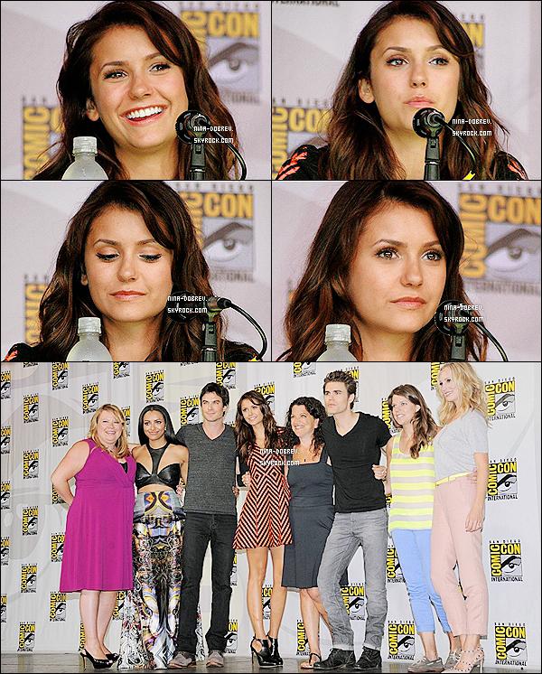 20.07.13 :.Nina et une partie du cast de TVD étaient au « Comic-Con » de San Diego, afin de parler de la saison 5.