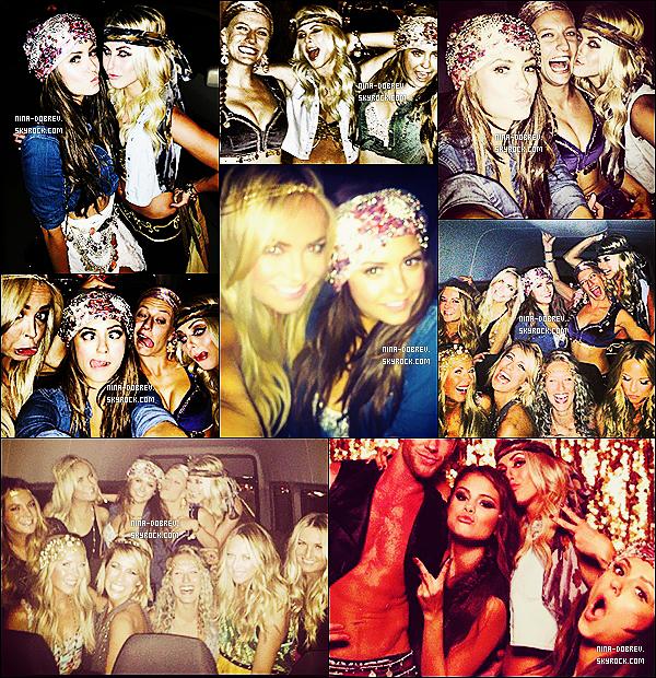27.07.2013 :. Nina et ses amis dont Julianne Hough se rendant à la soirée d'anniversaire de Selena Gomez !