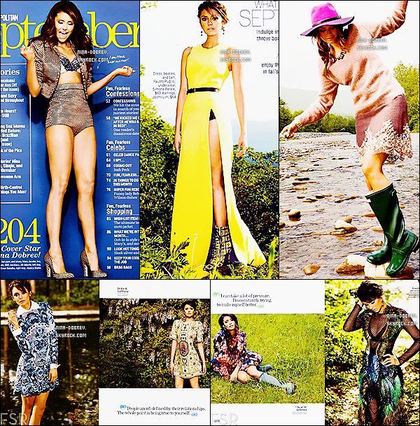 Nina fait la couverture du magazine  « COSMOPOLITAN »  pour le mois de septembre