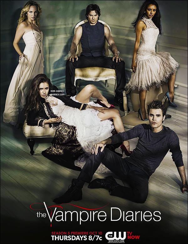 Découvrez trois nouvelles affiches promo pour la saison 5 de « The Vampire Diaries  ».
