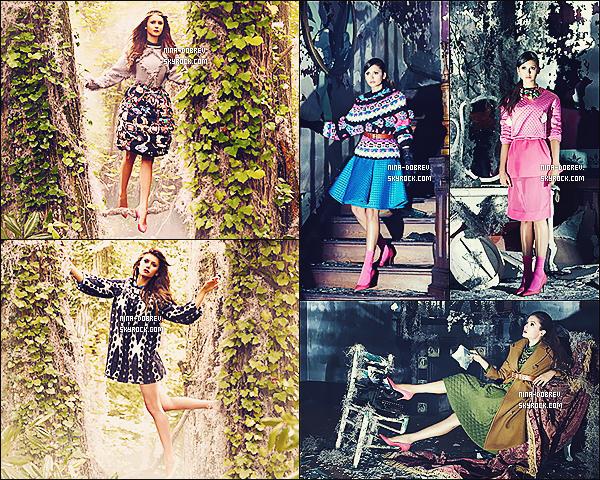 Nina est la nouvelle égérie de la marque chinoise « Dazzle » - (collection automne/hiver).