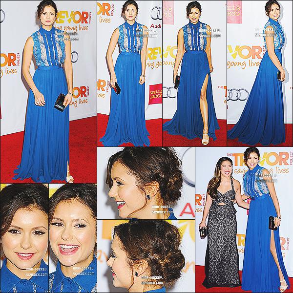 08/12/13 :. Nina s'est rendu à l'événement «  TrevorLIVE LA 2013 », qui à eu lieu au  Hollywood Palladium .