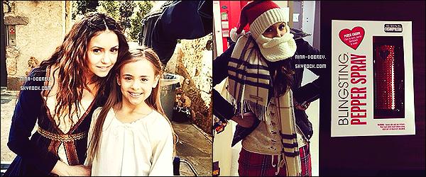 → Découvrez de nouvelles photos personnelles de Nina postées sur son Twitter. .__Nina a rejoins son amie Julianne Hough et son frère Derek à Park City (Utah), pour fêter Noël avec leur famille.