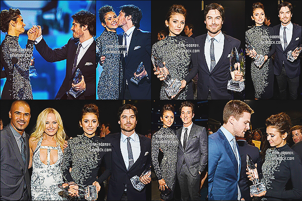 08/01/14  : Nina Dobrev s'est rendue à la cérémonie des  « 40th People's Choice Awards  »  à Los Angeles (CA).
