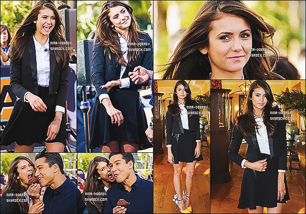 10/01/2014 : Nina Dobrev était l'invitée de l'émission « Extra  » afin de parler de sa relation avec Ian  et de la série !