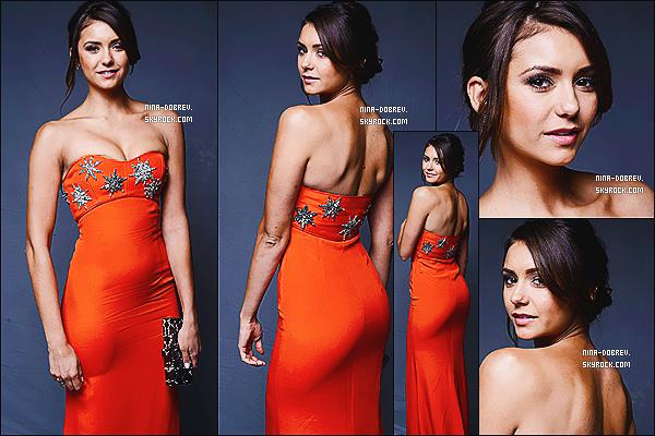 11/01/14 : Nina était au «  The Art of Elysium's 7th Annual Haeven Gala  ». qui s'est déroulé à Los Angeles.                          N. portée une robe orange signé Emilio Pucci accompagnée d'une pochette Rodo et des escarpins Rupert Sanderson. TOP ?