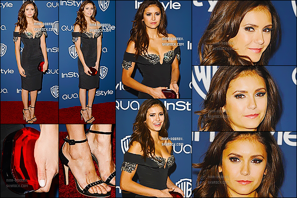 12/01/14  : Nina Dobrev s'est rendue à la «  InStyle And Warner Bros. Golden Globe Party  » , à Los Angeles.
