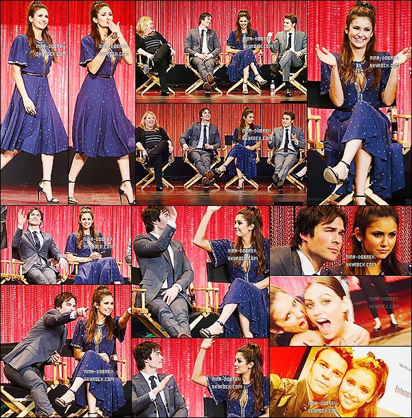 22/03/2014 : Nina, Ian et Paul se sont rendus au « PaleyFest Panel 2014  » au Théâtre Dolby de Los Angeles.