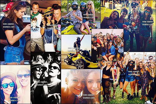 11-12/04/2014 : Nina Dobrev s'est rendue au premier et second jours du « Coachella Music Festival » à  Indio.