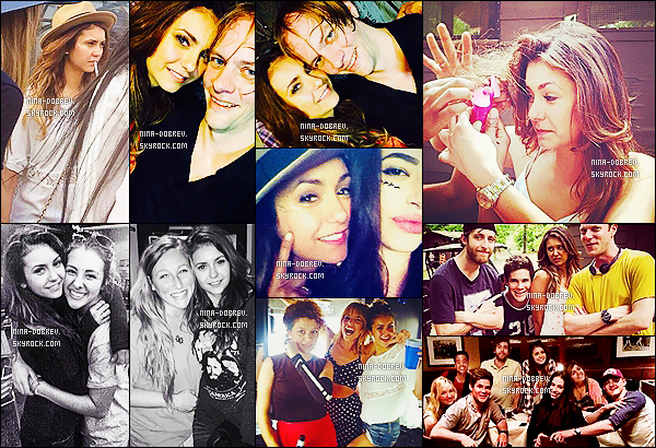 Voici quelques photos de Nina et de ses co-stars sur le set du film « The Final Girls »