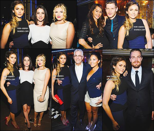 * 15/05/2014 : Nina Dobrev était présente aux « CW Upfronts » qui ont eux lieux au London Hotel à New York.  *